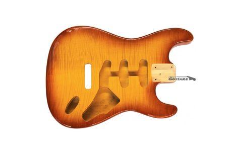 Corps Stratocaster Licence Fender SSS honey Burst table érable flammé