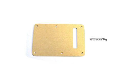 Plaque arrière Stratocaster cache tremolo aluminium anodisé gold 1 pli