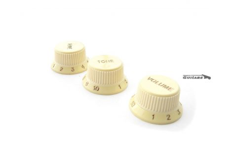 Jeu de Boutons Fender Stratocaster Elite Soft Touch Aged White