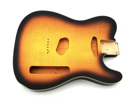 Corps Telecaster Custom Flame Maple Top Tobacco Burst style Gibson