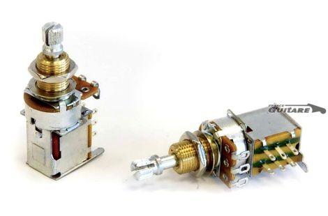 Potentiomètre CTS USA Push Push 500K Linéaire pour Strat et Tele