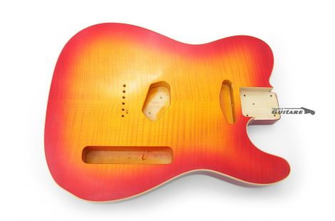 Corps Telecaster Custom 62 Flame Top maple Cherry Burst