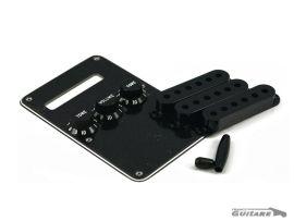 Kit Cache Accessoire Micros Plastique Fender Stratocaster Black