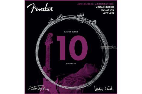 Cordes guitare électrique Fender Artist Jimi Hendrix 10-38 bullet end