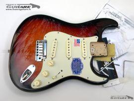 Corps Assemblé Fender Stratocaster American Deluxe Sunburst 2012