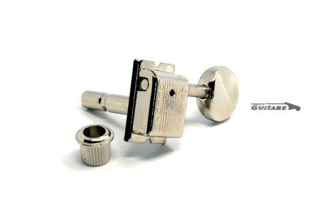 Mécaniques Kluson Vintage 6 en ligne nickel à blocage Strat et Tele