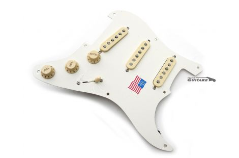 Loaded Pickguard Fender Stratocaster Fender Eric Johnson Parchment White