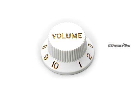 Bouton de volume Fender Stratocaster Standard vintage white