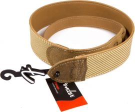 Sangle Fender Tan Tweed Leather Strap deluxe cuir