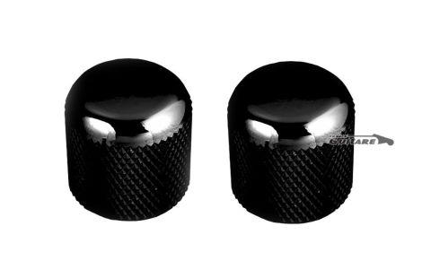Paire Boutons potentiomètre Telecaster Dome Noirs Gotoh Japon