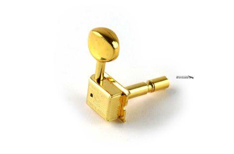 Mécaniques Kluson Vintage Gold 6 en ligne à blocage Strat et Tele