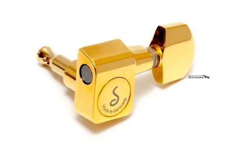 Mécaniques Schaller Original F series 6 en ligne Strat Gold