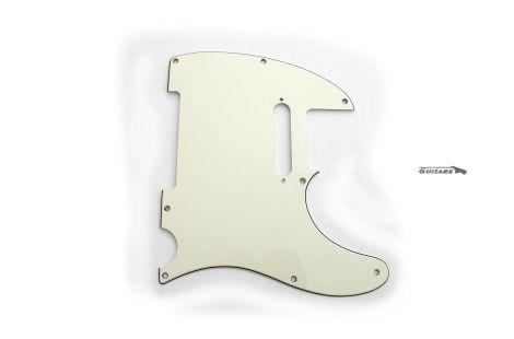 Pickguard Fender Telecaster Am Std 3 plis Parchment White d'occasion