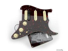 Loaded Pickguard Fender Stratocaster American Deluxe HSS Shawbucker Tortoise