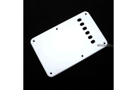 Plaque Stratocaster cache tremolo blanc brillant David Gilmour 6 trous