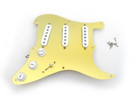 Pickguard Fender Stratocaster Gold Anodisé 57 Reissue Japan Texas Special