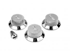 Jeu de boutons Stratocaster Allparts USA chromés avec bouton sélecteur