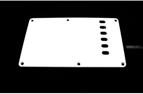 Plaque Fender cache tremolo Stratocaster backplate made in japan 1 pli blanc