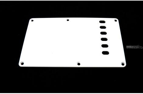 Plaque Fender cache tremolo Stratocaster backplate made in japan 1 pli blanc