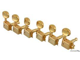 Mécaniques Kluson Gold Droitier 6 en ligne pour Strat/Tele TonePro