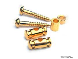 Paire de guides cordes finition Gold Gotoh Cylindrique Strat et Tele