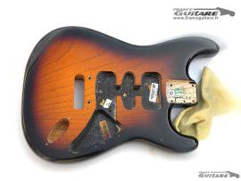 Corps Fender Stratocaster Anniversaire Deluxe 2014 Sunburst Ash
