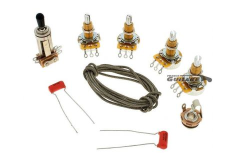 Kit de câblage type Gibson Les Paul USA Longs potentiomètres