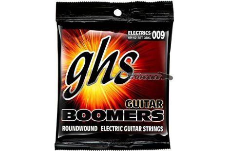 Jeu de cordes pour guitare Fender GHS Boomers Roundwound tirant 09-42
