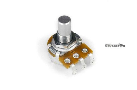 Mini potentiomètre Alpha linéaire 50K axe lisse pour Jaguar Jazz Master
