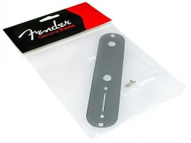 Plaque de contrôle Telecaster Fender nickel chrome