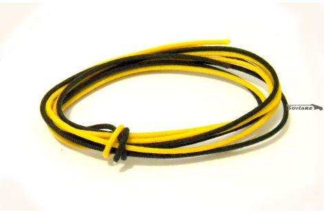 Fils câblage électronique vintage jaune et noir circuit Strat et Tele