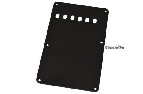 Plaque arrière Strat cache tremolo 1 pli noir 6 trous 54mm E-E spacing