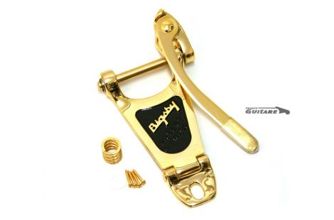Tremolo Bigsby B3 aluminium finition Gold pour Fender et Gibson
