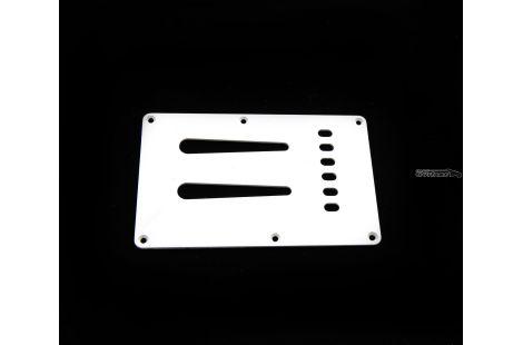 Plaque Fender cache tremolo Stratocaster Squier japan Parchment white