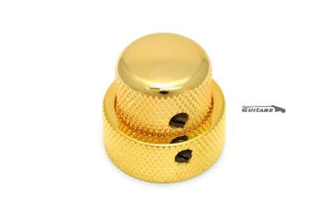 boutons superposé laiton finition gold jazz bass telecaster MK0137-002