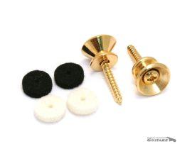 Paire boutons de sangle Strat Vintage Gold