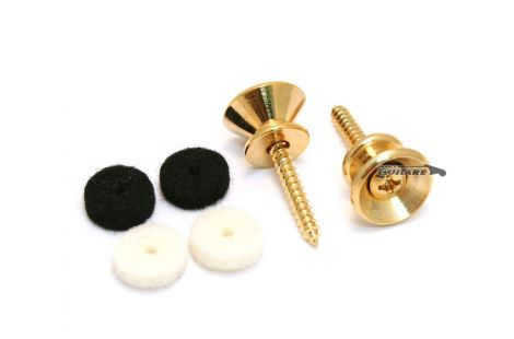 Paire boutons de sangle Strat Vintage Gold