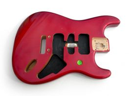 Corps Fender Stratocaster Player frêne Limited FSR Crimson Red Burst