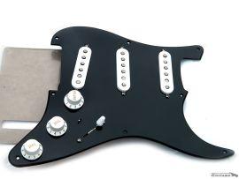 Loaded Pickguard David Gilmour Black Strat Seymour Duncan Custom SSL-5