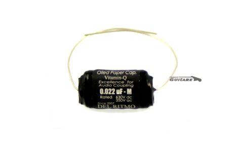 Condensateur guitare Papier Huilé Vitamine Q Del Ritmo 022uf 630V