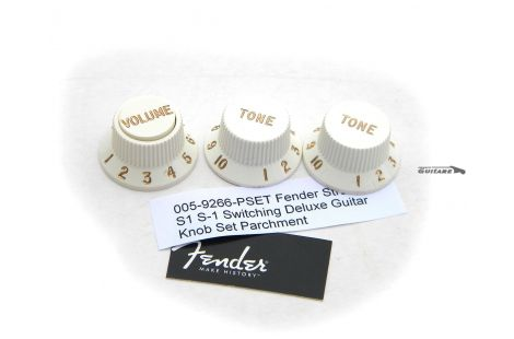 Jeu Boutons Fender Stratocaster Deluxe USA volume S-1 Parchment White