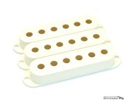 Capots de Micros stratocaster simple bobinage vintage Parchment White