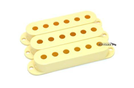Capots plastique pour Micros Fender stratocaster vintage Aged White