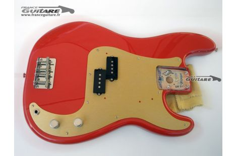 Loaded Body Fender Precision Bass Classic Series 50s Fiesta Red