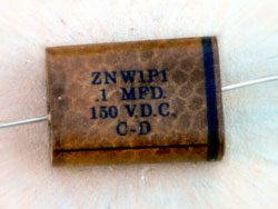 condensateur vintage cornell dubilier