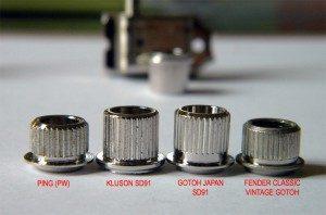 comparaison bagues bushing de mécaniques Fender Strat