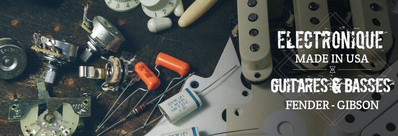 piéces électroniques pour circuit guitare électrique fender usa