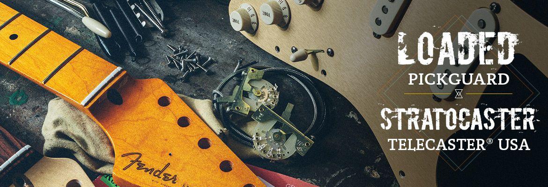 Loaded Pickguard assemblés (assembly) Fender Stratocaster et Telecaster : Plaques précâblées genuine plates, plaques assemblées, moderne, original vintage et sur mesure.