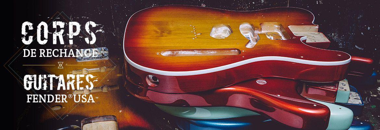 Corps guitares et basses Fender® stratocaster et telecaster